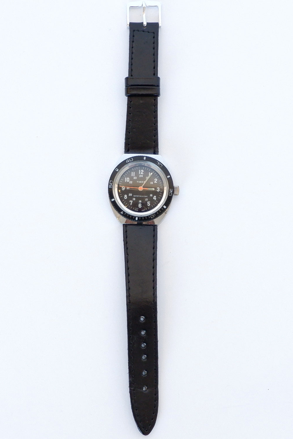 Vintage Timex Black Military Watch