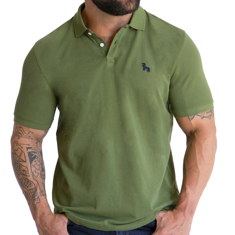 67655fbb Olive Green Polo Shirt For Men – Blade + Blue