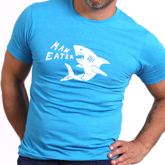 Provincetown Aqua 'ManEater' Shark Tee Sizes S & M Available