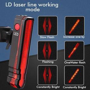 Rechargeable Bike Warning Laser Lamp