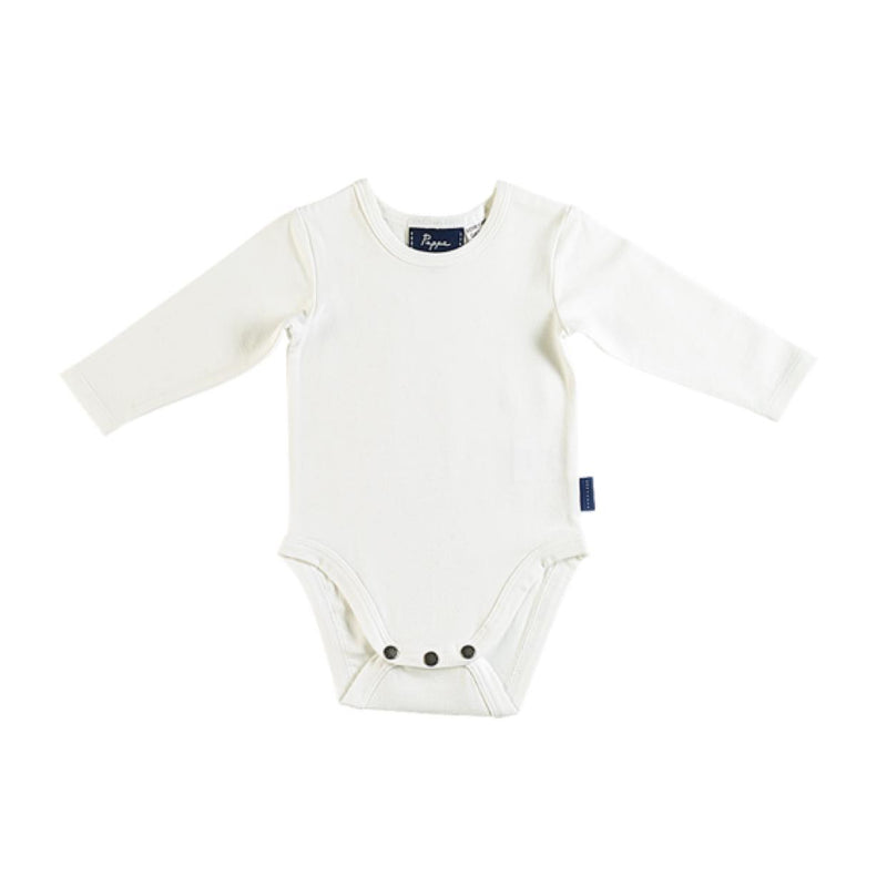 Nimmy Luxe Organic White Long Sleeve Bodysuit