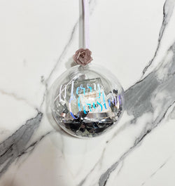 Personalised Martini Bauble