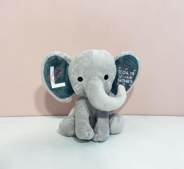 Personalised Plush Elephant