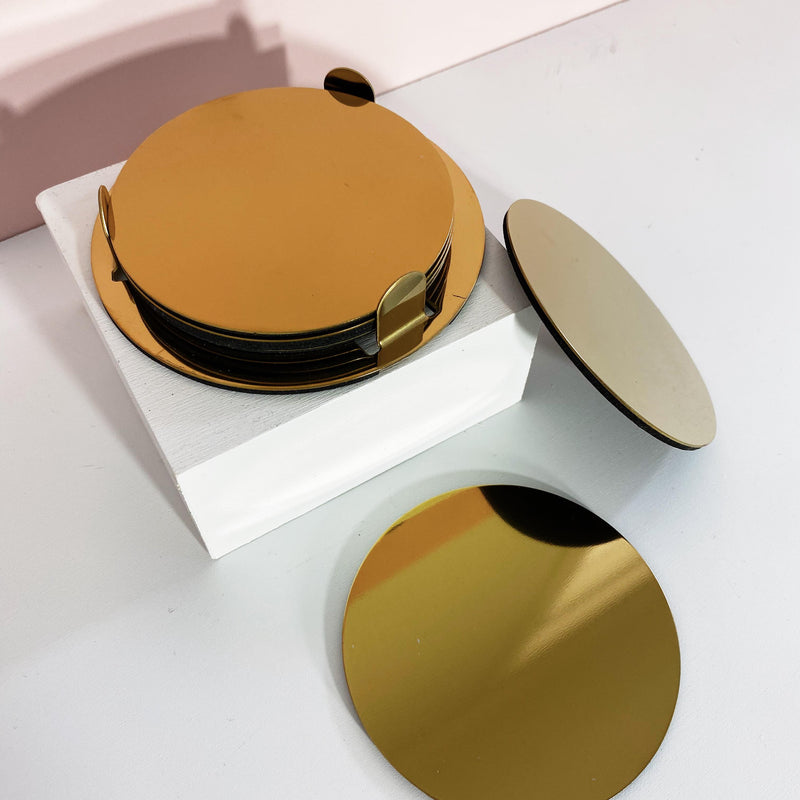 Gold Coloured Coasters