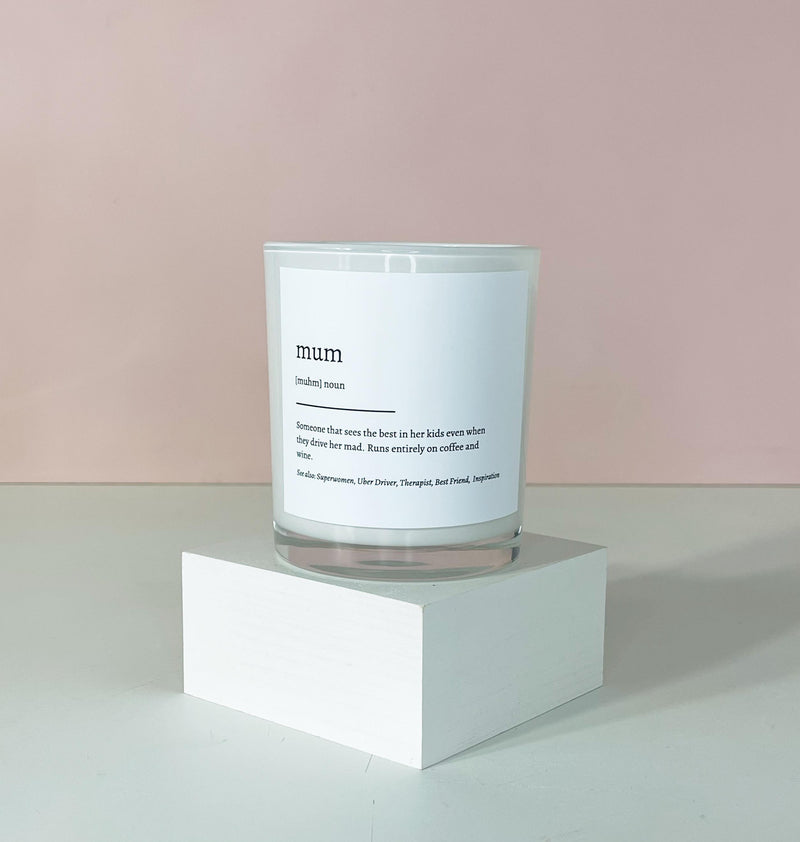 Mum Definition Candle