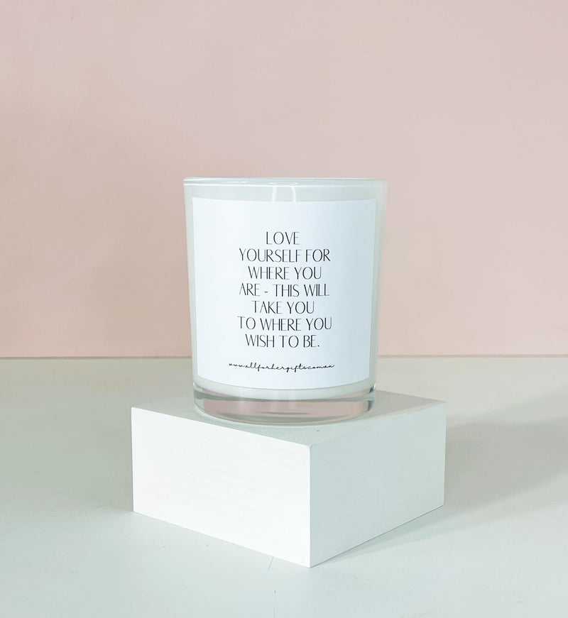 Love Yourself Quote Candle