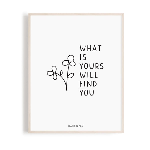 What is Yours Print + Frame