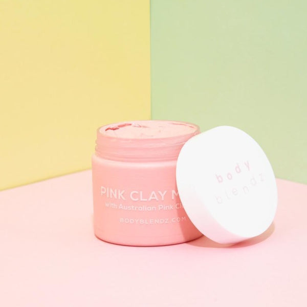 Face and Chest Pink Clay Mask