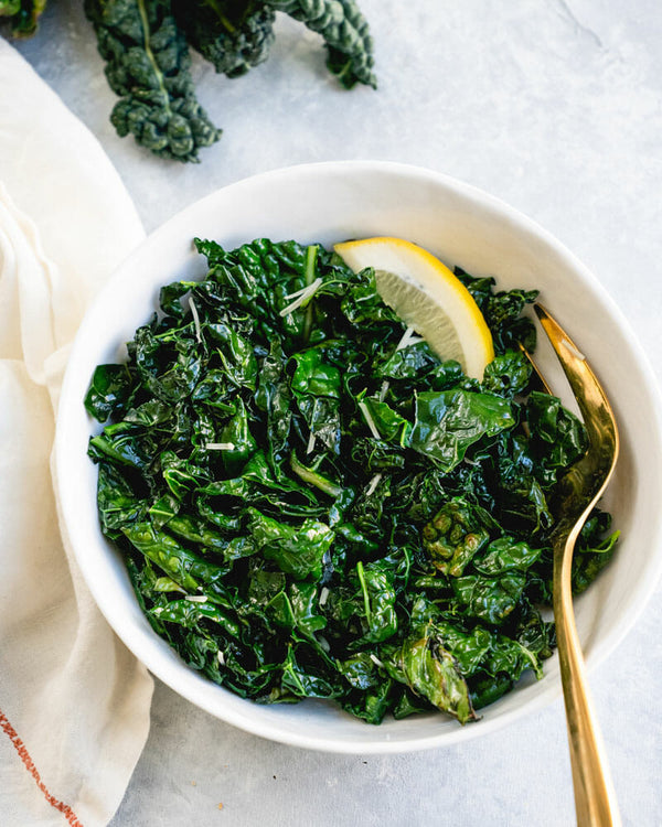 Sauteed Greens with Roasted Garlic Bulk