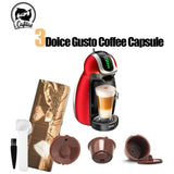 New 3rd Generation for Nescafe Dolce Gusto Reusable Coffee Filter Dolci Gusto Capsule Cup with Metal Mesh Cafeteira Dripper