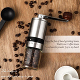 New Hand Coffee Grinder Stainless Steel Manual Grinder Machine Easy Clean Kitchen Tools Adjustable Handmade Coffee Bean Mill