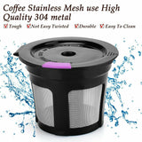 Update 6pcs/Set Refillable Keurig Coffee Capsule K-cup Filter for 2.0 & 1.0 Brewers Kcup Reusable for Keurig machine K-Carafe