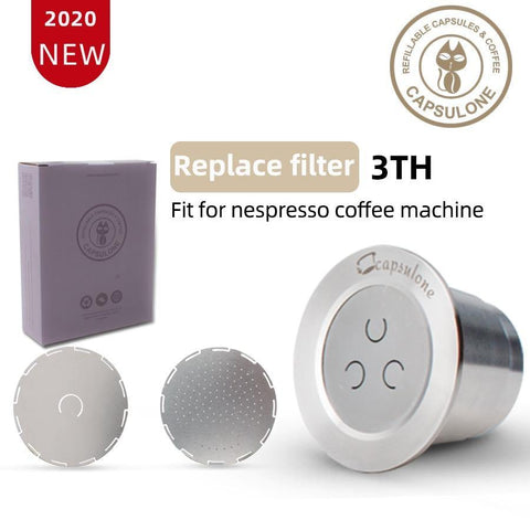 Capsulone 3rd STAINLESS STEEL Metal Capsule Compatible with Nespresso  Refillable Reusable coffee capsule pod