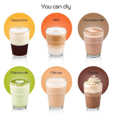 iCafilas Stainless Steel Reusable Milk Foam Capsule For Nescafe Dolce Gusto