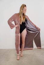 Load image into Gallery viewer, Dusty Pink Velvet Coat