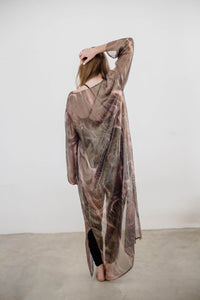 Rose Gold Printed Chiffon
