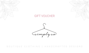 Simply So | Gift Card