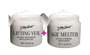 ВУАЛЬ-ПОДТЯЖКА+РАСТВОРИТЕЛЬ ВОЗРАСТА (Lifting Veil Natural Moisturizer with Liquid Silk+AGE MELTER Glycolic Renewal Moisturizer