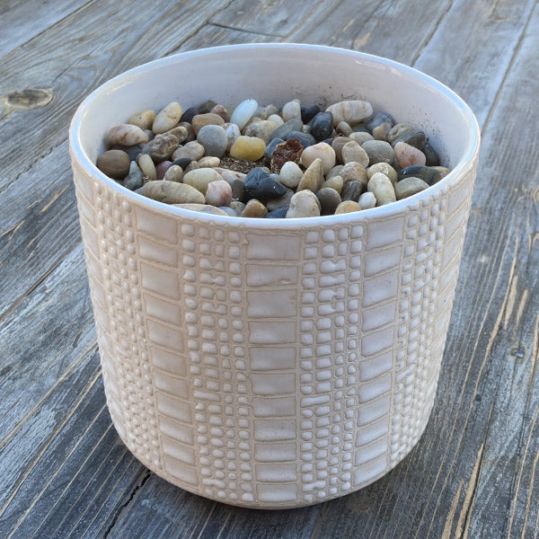 Textured Ceramic Container