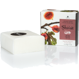 Creamy Fig Soap with Olive Oil-Shivat-Israel Menu