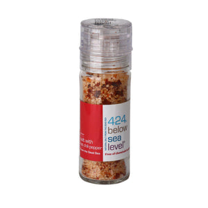 Salt With Hot Chili Pepper Grinder - 424 below sea level - Israel Menu