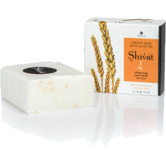 Creamy Wheat Soap with Olive Oil-Shivat-Israel Menu