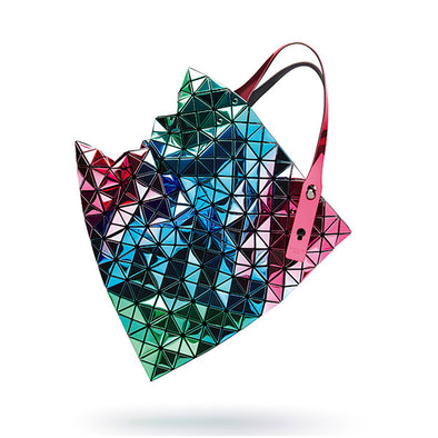 Limited Edition: Platinum Iridescent Tote by Bao Bao Issey Miyake