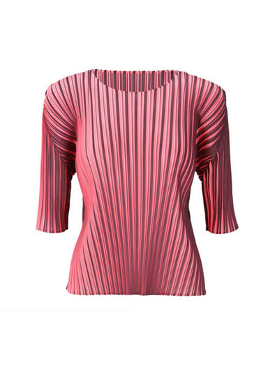 Pleats Please Issey Miyake Pink Alt Colour Top