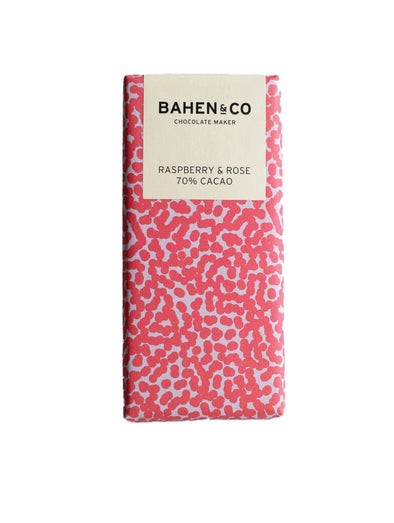 Bahen & Co Raspberry and Rose Dark Chocolate