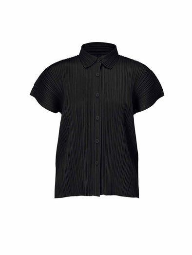 Pleats Please Issey Miyake Black Monthly Colours Button Shirt