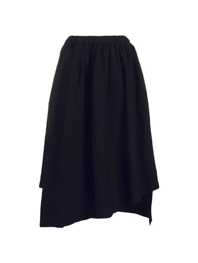 CDG CDG Black Asymetric Skirt