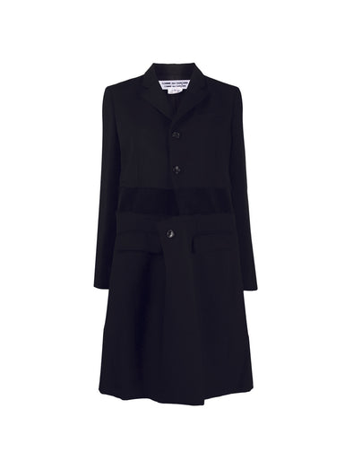 CDG CDG Black Panel Coat