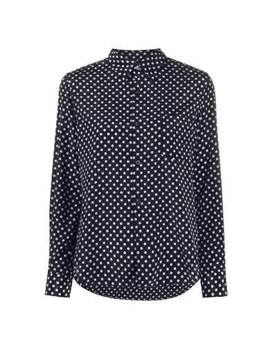 CDG CDG Navy Polka Dot Shirt