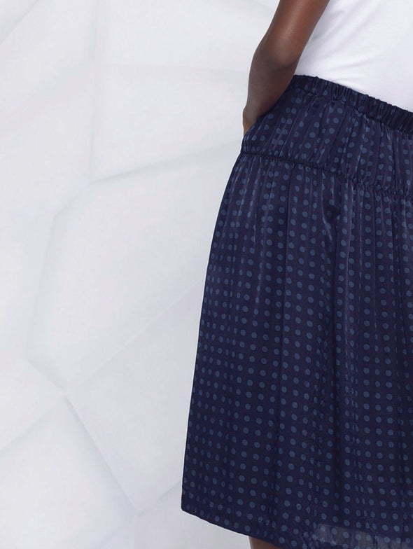 CDG CDG Blue Polka Dot Skirt