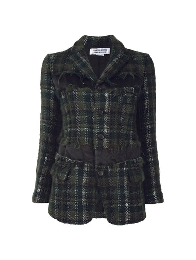 CDG Dark Green Houndstooth Blazer