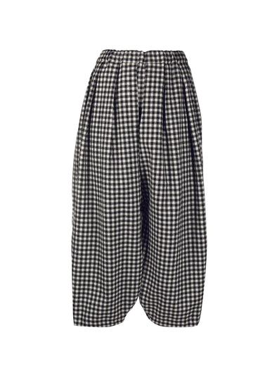 CDG CDG Cropped Gingham Trouser