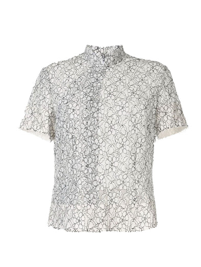 CDG CDG Floral Lace Top