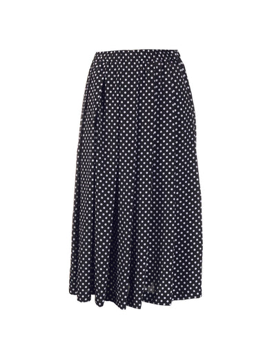 CDG CDG Navy Polka Dot Skirt