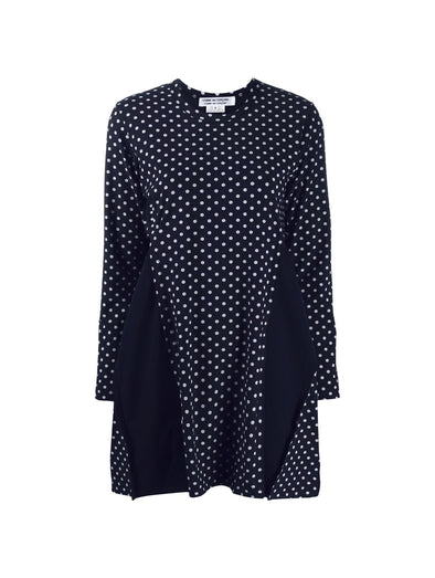 CDG CDG Navy Polka Dot Mini Dress