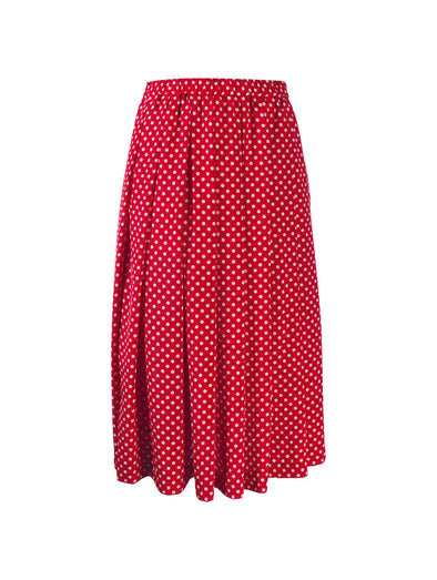 CDG CDG Red Polka Dot Skirt