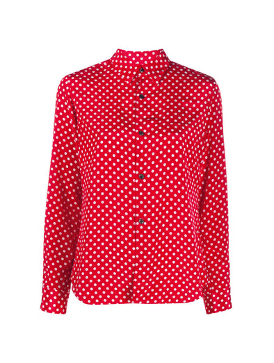 CDG CDG Red Polka Dot Shirt