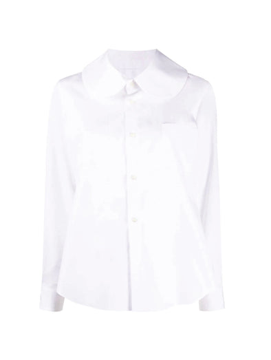 CDG CDG White Collar Shirt