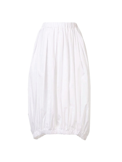 CDG CDG White Pleated Skirt