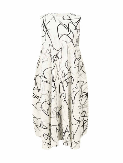 Pleats Please Issey Miyake Conductor Sleeveless Dress
