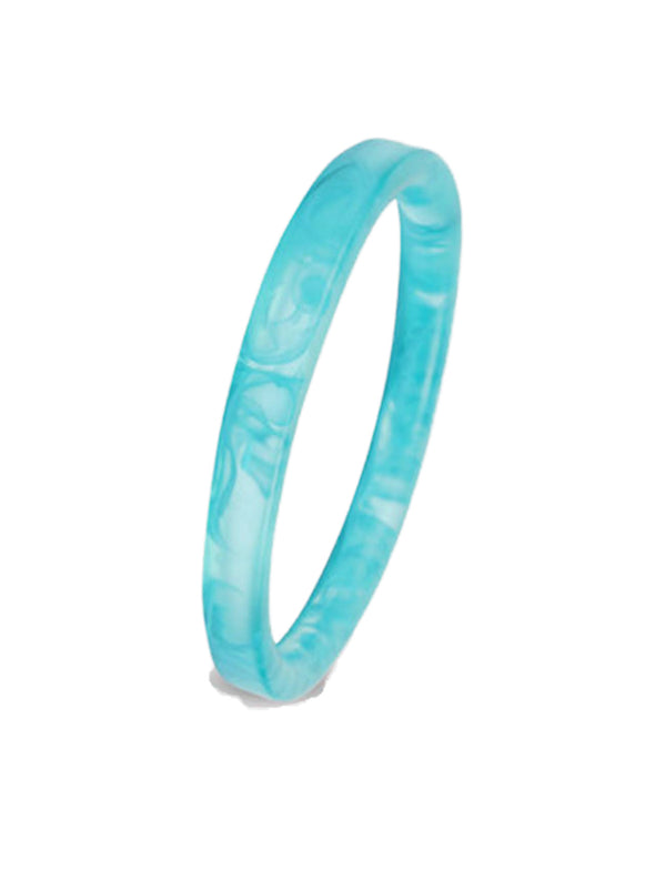 Dinosaur Designs Turquoise Swirl Wishbone Bangle
