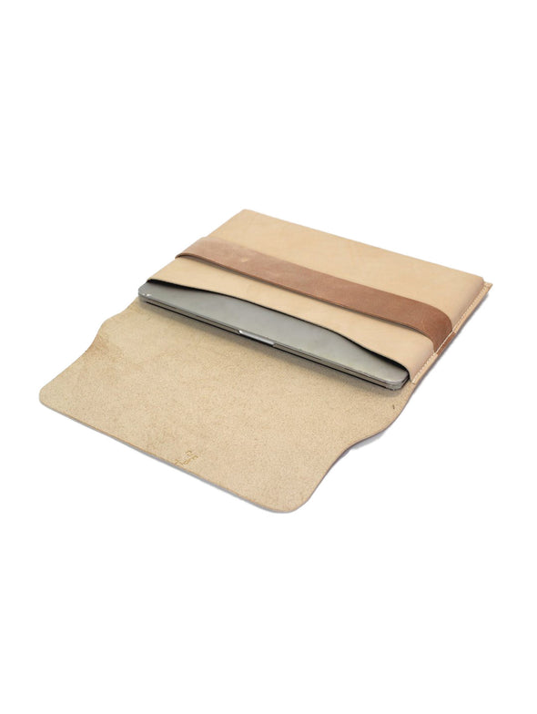 Elbow Workshop Natural Leather Laptop Sleeve
