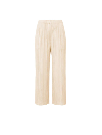 Pleats Please Issey Miyake Ivory Monthly Colour Pants
