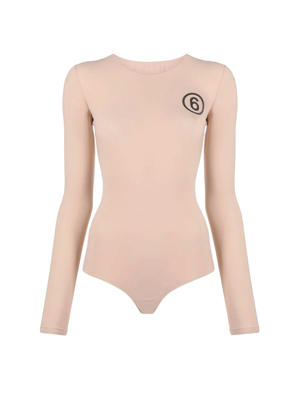 MM6 Beige Long Sleeve Body Suit