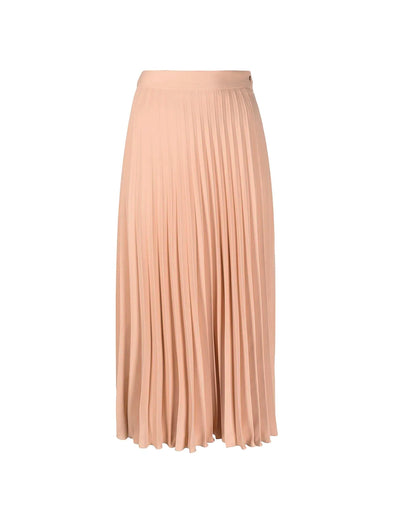 MM6 Beige Pleated Skirt