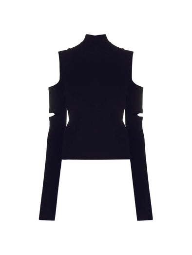 MM6 Black Cut Out Knit